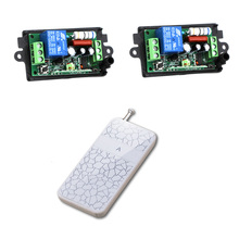 AC 110V 220V Wireless Remote Control Switch Wireless Power Switch System 1CH 10A Receiver + Transmitter Lighting Lamp LED ON OFF