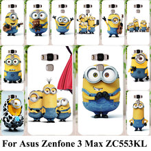 Silicon Plastic Cell Phone Cases For Asus Zenfone 3 Max ZC553KL Covers Zenfone3 Max 5.5 inch Housing Bags Yellow Minions Shell