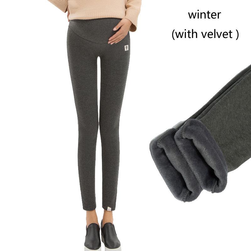 Plus Size Winter Velvet Pregnancy Leggings Pants For Pregnant Women Maternity Leggings Warm Clothes Thickening Trousers Clothing 11