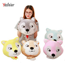 Drop shipping Cute dog hand warm Plush blanket plush toys stuffed animals Soft at home decorate pillow Cushion birthday gifr