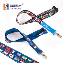 New Boeing / Jeppesen International Universal World National Flag Lanyard, Multi-colour Sling for Flight Crew's ID Card Case(China)