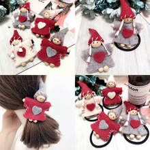 New cartoon love doll shape ball Hair band clips girls hairband rubber band for hair accessories fat pants rope hair ornaments(China)
