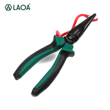 LAOA Cr-Ni Combination Pliers Wire Cutter Long nose Pliers Diagonal Pliers With Black Coating Treatment Hand Tools