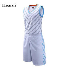 Hearui Custom Basketball Team Uniforms Sets Adult Man Professional Training Basketball Jersey High Quality Sports Clothes XL-5XL