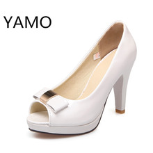 High heels pumps women shoes fashion peep toe nude pink heels platform pumps white stiletto heels ladies party prom shoes 2017