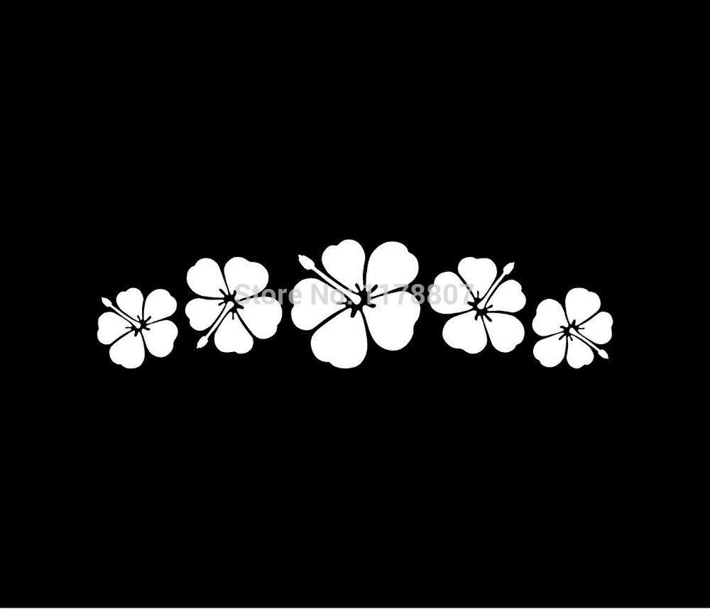 Hotmeini 15cm x 12cm tiki man hawaii funny car sticker for truck hibiscus flower spray sticker for car rear windshield truck suv bumper auto door laptop kayak vinyl izmirmasajfo