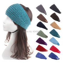 Fashion Adult Handmade knit Headband Ear Warmer Head wrap crochet headwrap Earband Headwear 33colors 5pcs/lot