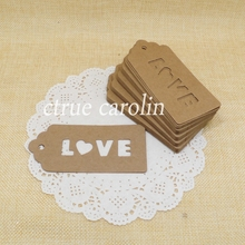 50pcs Kraft Paper LOVE Tag Paper Gift Tag Label Marks Decorations Fashion DIY Accessories vintage wedding decoration favor