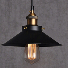 Free shipping Dia 22cm copper E27 base black light 110V or 220V Edison bulb coffee bar lighting vintage lamps pendant lights(China)