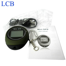 Handheld Keychain Mini GPS data logger USB Rechargeable For Outdoor Sport Free shipping Dropshipping(China)
