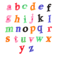 26pcs Lowercase Magnetic White Board Refrigerator Sticker Early Learning Toy Educational Toys Magnetic Digital Sticker(China)