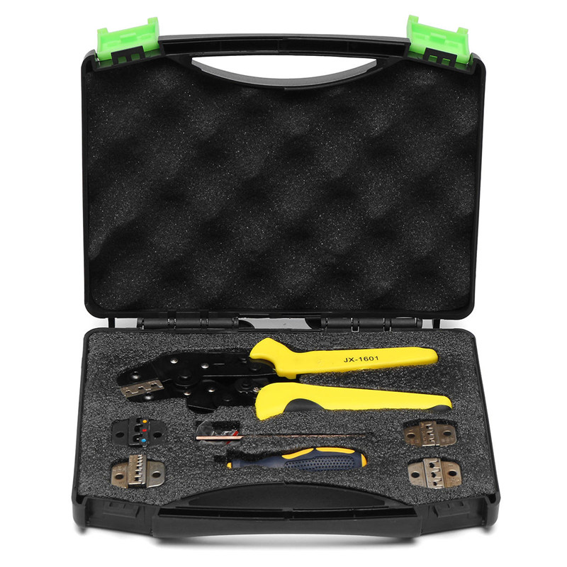 JX-D5 Multifunctional Ratchet Crimping Tool Wire Strippers Terminals Pliers Kit<br>