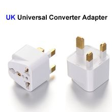 200pcs High Quality US EU AU To UK Plug Adapter United Kingdom Universal AC Travel Power Adapter Converter Outlet(China)