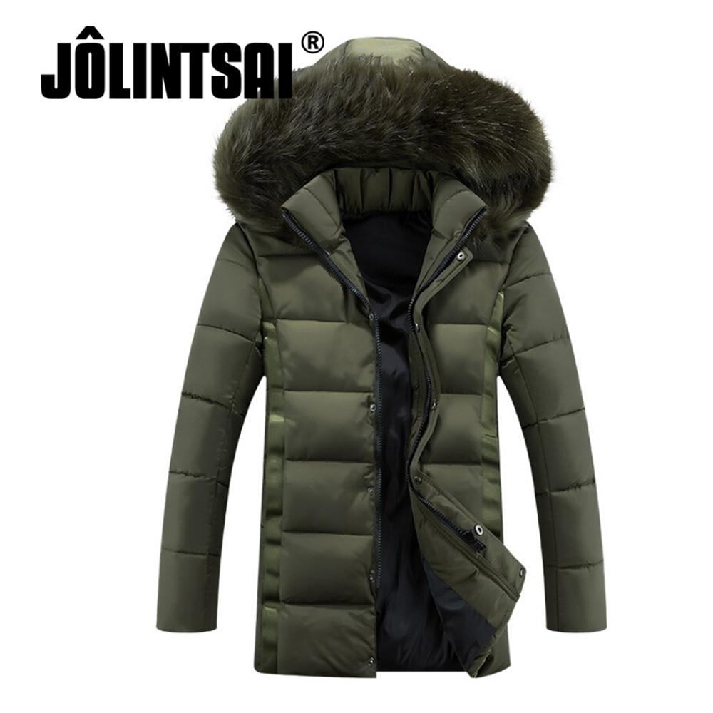 Jolintsai 2016 Plus Size 4XL 5XL Winter Jacket Men Fur Hoody Parka Men Long Cotton New Coat Lovers New Jacket Men/Women Одежда и ак�е��уары<br><br><br>Aliexpress