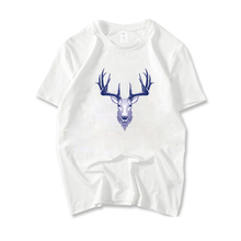 New David's deer casual T-Shirts men cotton Short Sleeve T Shirts summer style animal Tee Shirts male T shirt Plus Size RJ168(China)