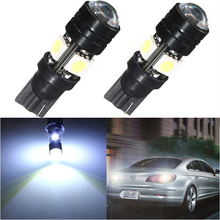 T10 LED  Car LED Lamp  Light Auto Bulbs With Projector Lens 12V W5W For Ford Focus Interior Packing Car Styling  Big Promotion