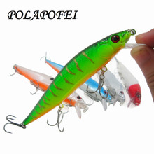 POLAPOFEI 5pcs Big Wobbler Fishing Lure Peche Crankbait Yo Zuri Bass Minnow Fish Artificial Pike Trout Bait Pesca C237