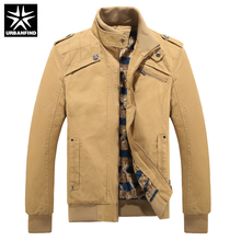 URBANFIND New Autumn Men Fashion Jackets Size M-3XL Stand Collar Man Zipper Jackets Long Sleeve Fit Spring Male Coats(China)