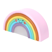 iTimo Rainbow Night Light For Baby Room Decoration Night Lamps Plastic Novelty LED Indoor Lighting Smile Kids Christmas Gifts(China)