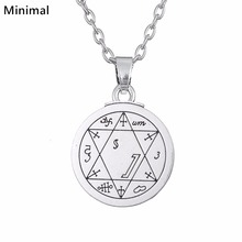 Minimal Ancient Star of David Seal of Solomon Supernatural Amulet Hexagram Pendant & Necklace Wicca Jewelry(China)