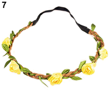 2016 Beautiful Boho Style Floral Flower Women Girls Hairband Headband Festival Party Wedding Hairwear 8N6L