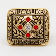 1957 Milwaukee Brewers Baseball Championship Ring ,HOT Fashion Jewelry Cheap Replica Sports Ring for Engagement(China)