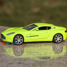 Miniature Aston Martin ONE-77 1:32 Scale Car Toys Diecast Car Model Flashing Metal Pull Back Car Kids Toys Gift Collection P45