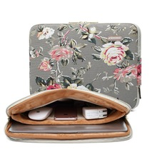 "Black Rose Design 11.6"" 13.3"" 14""15.4"" Laptop Case Ultrabook Sleeve Soft Notebook Bag Cover For Macbook Air Pro Retina For Lady(China)"
