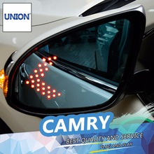 UNION For Camry Blue rearview mirror car styling 2015 2016 For Camry rearview mirror LED turn electric heating no blind spot