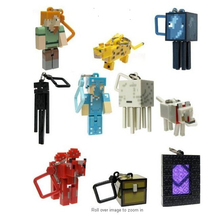 10pcs/set Minecraft Steve My World 1&2 Creeper Action Figures Toys 3D Keychain Weapon Tools Boys Collections Christmas Gifts(China)