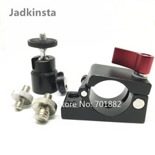 Jadkinsta 25mm Clamp Adapter For Dji Ronin M MX Monitor Bracket + 1/4 Mount Mini Ball Head + 1/4 to 1/4 or 1/4 to 3/8 Male Screw