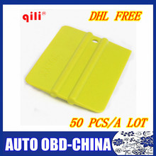 50 pcs/a lot DHL free ship QILI QG-09 Irregularity square car sticker wrapping squeegee with size 9.8x7.1cm foil install tools