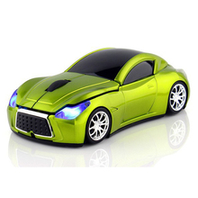 Computer Mice Infiniti Sports Car Mouse 2.4Ghz Optical Wireless Mouse with LED Light(China)