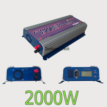 Grid Tie Solar Inverter 2000W,45-90V DC On Grid Solar Inverter with LCD,45-90V dc to 230V AC output,MPPT fucntion