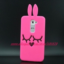 For LG G2 Case HOT Soft Silicone Smile Rabbit Cartoon Style Cell Phone Back Cover Case for LG Optimus G2 D802 D801 F320