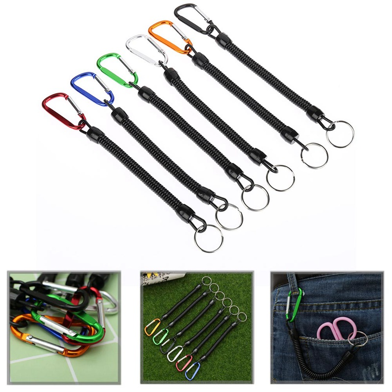 Wire Camping Fishing Lanyard Tether Cord Secure Pliers Lip Grip Tackle Tool