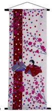 Free Shipping Feng Shui Japanese Sushi Restaurant Kitchen Doorway Split Cloth Curtain Noren, Cherry Blossom and Beauty, 39x90 cm