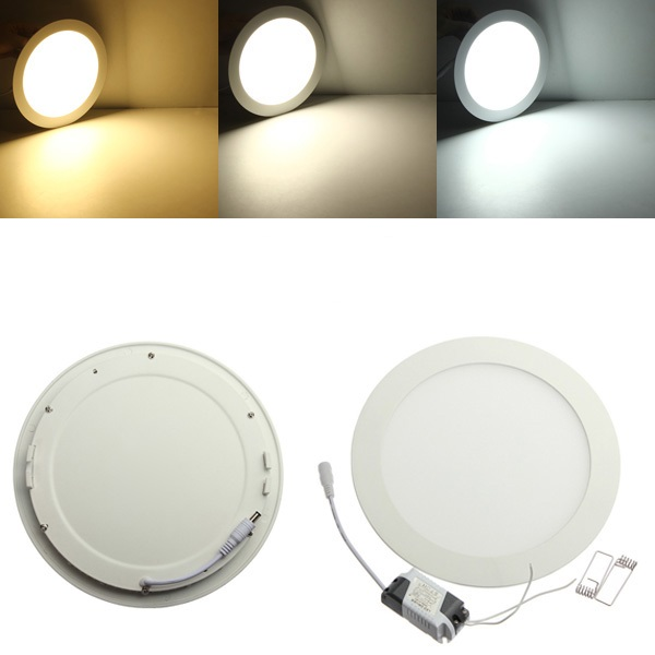 AC/DC 12V-24V led downlight 3W 4W 6W 9W 12W 15W 25W led ceiling recessed grid downlight round panel light free shipping(China)