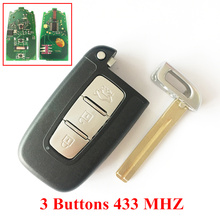3/4 Buttons Remote Key For Hyundai I30 Ix35 Sonata Elantra Smart Remote Key 433MHZ Ip With TOY40 Blade