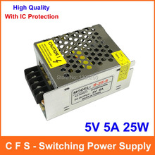 Single Output Switching power supply 5V 5A 25W Transformer 110V 220V AC To DC 5 V SMPS For Electronics Led Strip Display