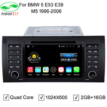 "HD 7""  2 Din 1024x600 2GB/16GB Quad Core Android 5.1.1 PC Car DVD GPS Video Player For BMW 5 Series E53 E39 M5 1996-2004"