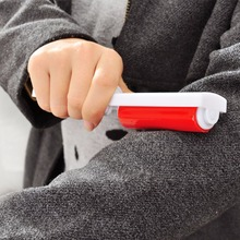 Travel Portable Washable Lint Sticky Roller Hair Dust Remover Clothes Foldaway(China)