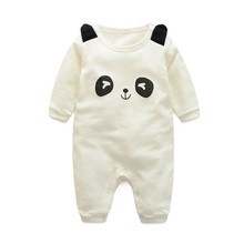 New 2016 infant baby / children cartoon dragon sleeve winter rompers, boys / girls lovely panda jumpsuits