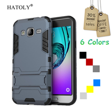 HATOLY For Cover Samsung Galaxy J3 Case Robot Armor Rubber Slim Hard Phone Case for Samsung Galaxy J3 Cover for Samsung J3 2016(