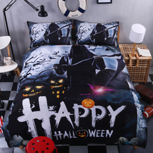 Happy halloween bedding set kids queen king twin pumpkin lamp zombie black comforter duvet quilt cover Set 3d prinded bed linen(China)