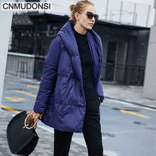 CNMUDONSI New Winter Coats Ladies' Fashionable Womens Waterproof Short Fashion Trendy Jackets Hooded Casual Long Quilted Jackets(China)