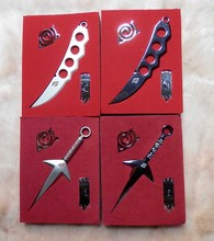 One Set Metal Toy Sword Naruto Kunai Knife Throwing Set Mini Naruto Weapon Toys Ninja Knife Naruto Cosplay Weapons model