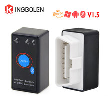 kingbolen ELM327 V1.5 Chip PIC18F25K80 Bluetooth Power Switch OBD 16Pin 12V Car Code Reader ELM 327 ON Android Diagnostic tool