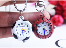 Retro Vintage Quartz Ball Glass Pocket Watch Necklace Chain Steampunk children football basketball golf ball gift pocket watch