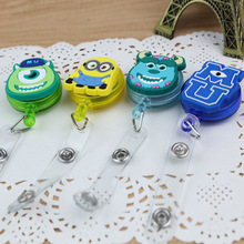 10PCS Cute monster combination pattern badge easy pull buckle badge ID card name badge lanyard hospital nurse stretch mini badge(China)